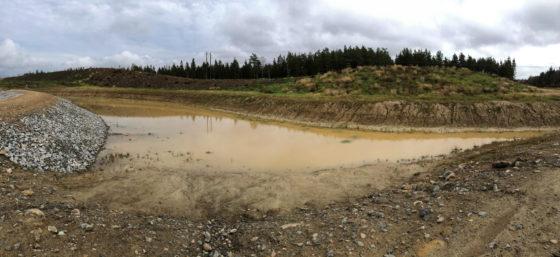 Start av flödet av lerslam ut i Ilabäcken
